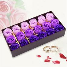 Rose Soap Flower Scented Soap Flower Petals 18 Heads With Box For Valentine's Day Birthday Gift Artificial Flowers For Decor