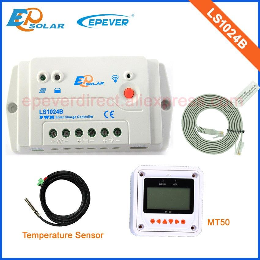 New LandStar series EPsolar new generations solar 12V 24V controller with temperature sensor and MT50 LS1024B 10A 10amps цены