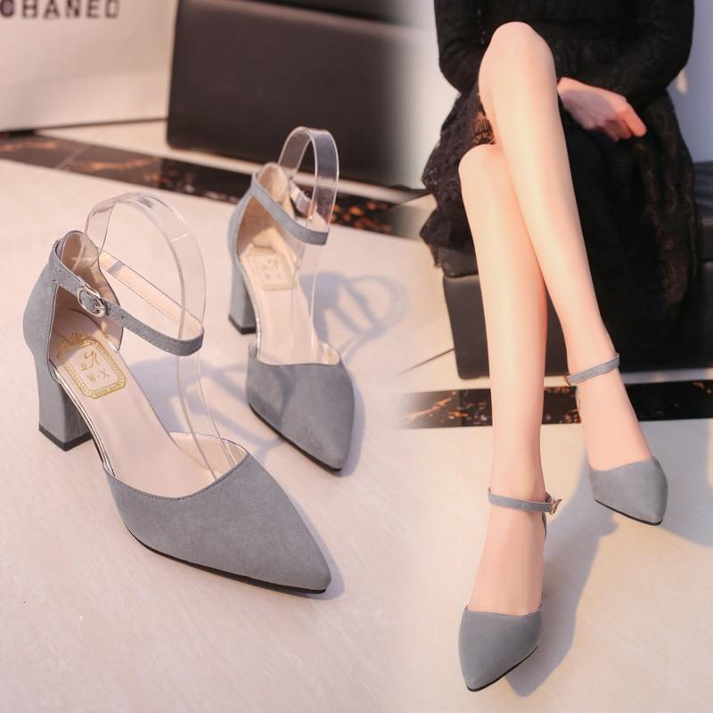 HTB1OhFvamCWBuNjy0Fhq6z6EVXaz 2019 Fashion High Heels Newest Women Pumps Summer Women Shoes Thick Heel Pumps Comfortable Shoes Woman Platform Shoes s0013