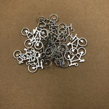 30MM Hot Sell Antique Silver bicycle Pendants for Necklace Bracelet Jewelry Making DIY Handmade 5ps(China)