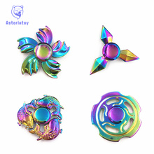 4style Colorful Professional EDC Fidget Toy Spinner Metal Anti Stress Finger Spinner Stainless steel Hand Spinner