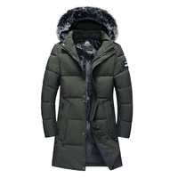 2018 NEW Army Green Jackets Men Winter Coat Fashion Long Warm Parka Male Thick Cotton Padded Jacket High Quality Wholesale