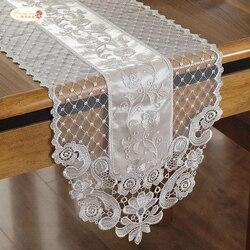 Orgulhoso rosa laço mesa bandeira princesa corredor de mesa bege tv arca capa pano francês romântico toalha de mesa decoração do hotel