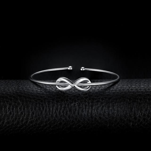 Love Infinity Sterling Silver Bracelet