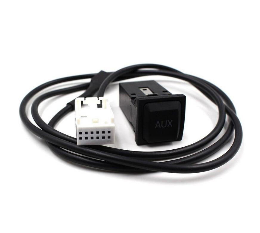 Бесплатная доставка OEM 2 в 1 USB AUX переключатель для RCD510