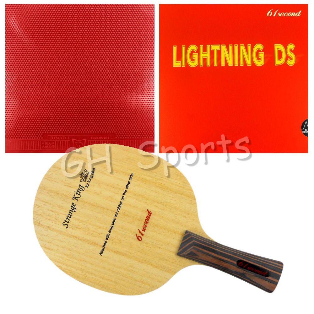 Pro Table Tennis PingPong Combo Racket 61second Strange King Shakehand with Lightning DS and Dawei 388D-1 Long shakehand FL avalox tb525 tb 525 tb 525 shakehand table tennis pingpong blade