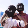 Hot Sale King Queen Snapback Caps Hat Men Women Baseball Cap Fashion Hip Hop Hat Couple Embroidery Hat Bone Wholesale/Retail