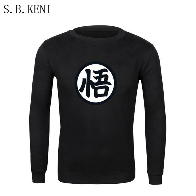 Hot Sale Anime Dragon Ball Z Goku Hoodies Men 2018 Spring Autumn Men Jacekt Sweatshirt Tracksuits Brand Clothing Hoody Plus Size ...