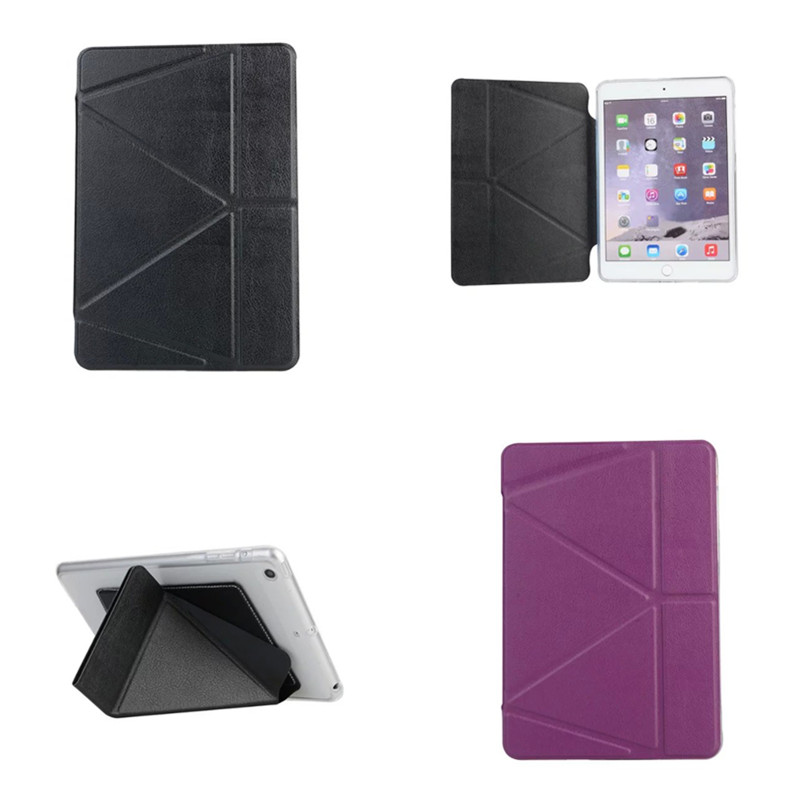 OST Colorful Stand PU Leather with Soft TPU Back Cover For iPad Air 1 air1 iPad 5 Smart Sleep Awake Case Transformer Flip Shell