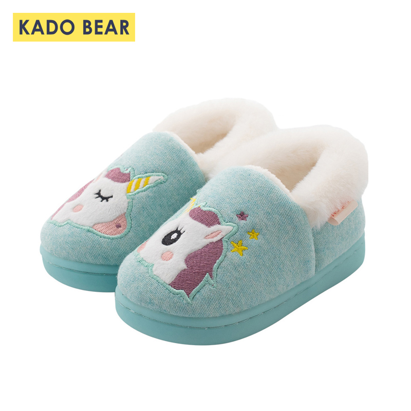 KIDS BOYS GIRLS WINTER FUR LINED COMFORT WARM WINTER SLIPPERS SHOES TODDLER BOOT