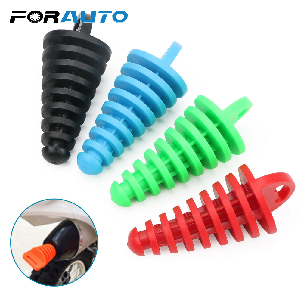 FORAUTO Motocross Tailpipe Wash Stopper Protector Motocycle Air-bleeder Waterproof Plug for Moto Exhaust Pipe Rubber Silencer(China)