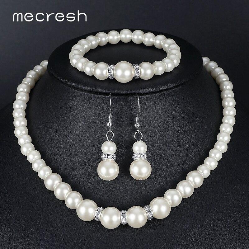 Mecresh προσομοιωμένη μαργαριτάρι - Κοσμήματα μόδας - Φωτογραφία 1