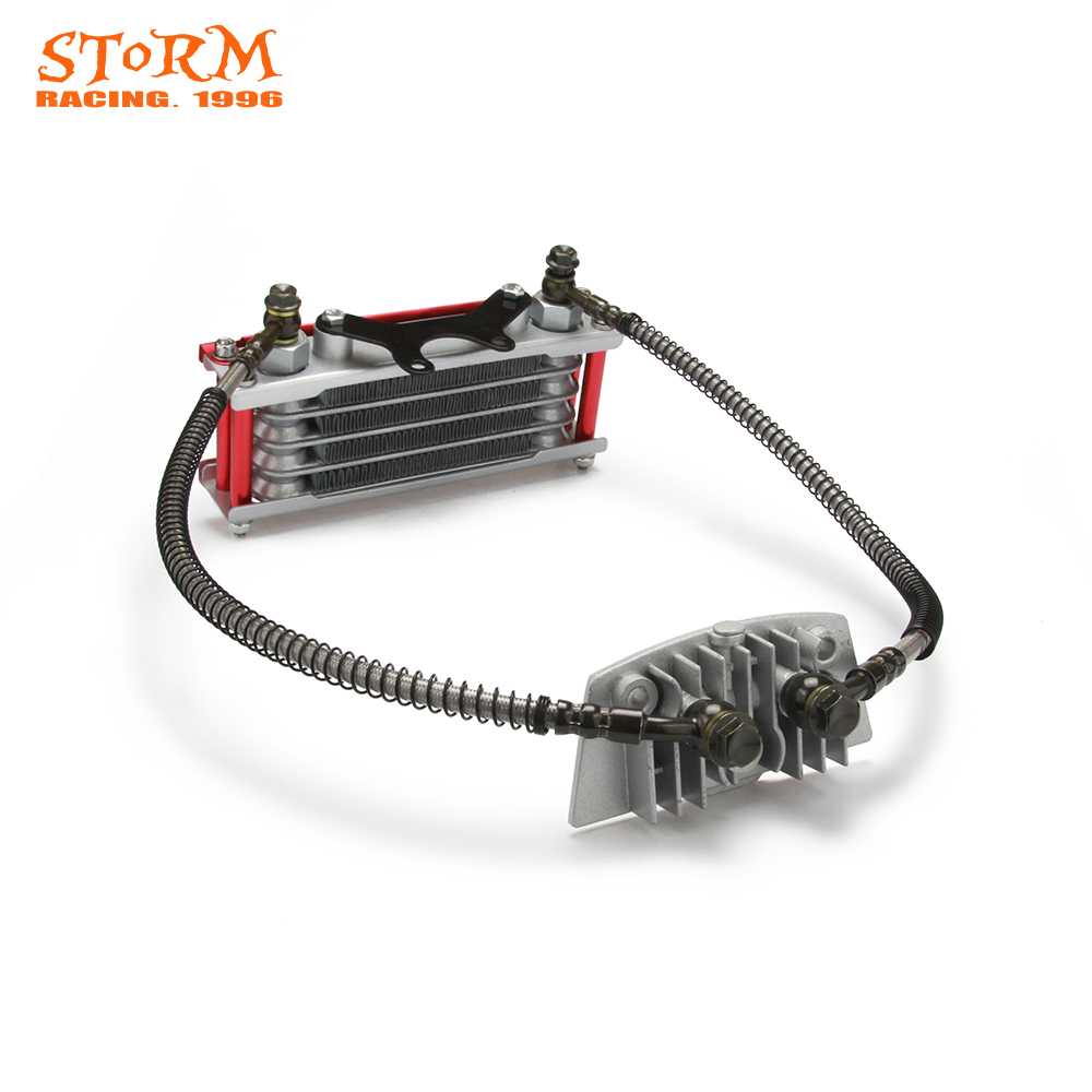 Motorcycle <font><b>Engine</b></font> Oil Cooler Radiator For Loncin Zongshen <font><b>Lifan</b></font> Shineray Yinxiang Kayo Bosuer Xmoto 50CC 70CC 90CC <font><b>110CC</b></font> image