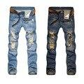 Designer Ripped Jeans Men 2016 Solid color size 28-38 Good Quality Biker jeans