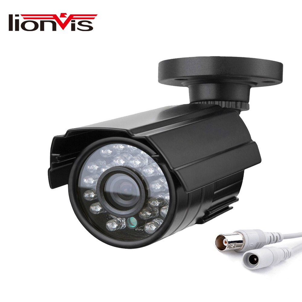 CCTV Security Camera 700TVL 1/4 CMOS IR-CutMetal IP66 24 LED Color IR Night Vision Surveillance Home Outdoor Video Camera 1 3 sony cmos 1200tvl cctv security camera metal ip66 24 led color ir night vision surveillance home outdoor video camera