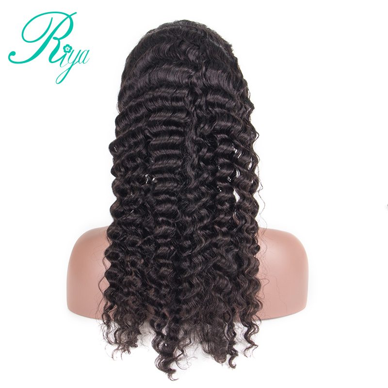 Riya Lace Front Human Hair Wigs with Baby Hair Peruvian Deep Wave 13x4 Wig for Women