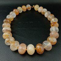 Natural 14x18mm Brazilian Golden Quartz Faceted Rondelle Nugget Beads 15 Strand