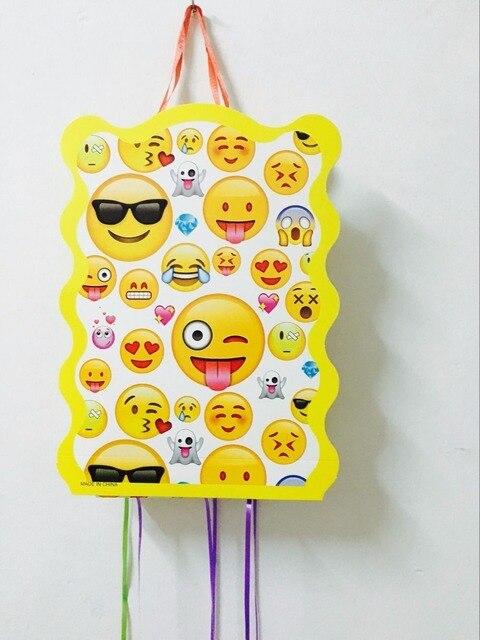 1SET LOT EMOJI PINATA KIDS BIRTHDAY PARTY FAVORS FUNNY GAME PLAYING HAPPY