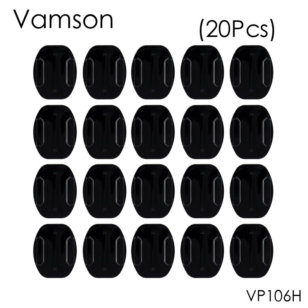 Vamson Accessories 20pcs Flat Surface Mount Base For Gopro Hero 5 4 3+Xiaomi Yi SJ400 Sport Camera VP106H