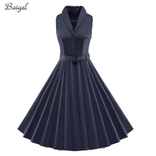 Womens Sleeveless Summer Retro Dress Black White 1950s Celebrity Vintage Style Rockabilly Pin up Swing Evening Party Dresses