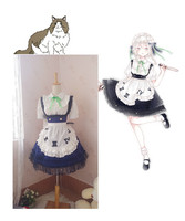 [Customized]Anime Touhou Project Alice Margatroid Lolita Dress Maid Outfit Cosplay Costume Any Size Women Halloween Freeshipping