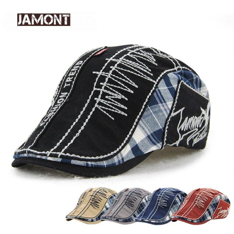 JAMONT Berets-Cap Embroidery Flat-Caps-Bone Fashion-Trend Women Casual Visors Casquette