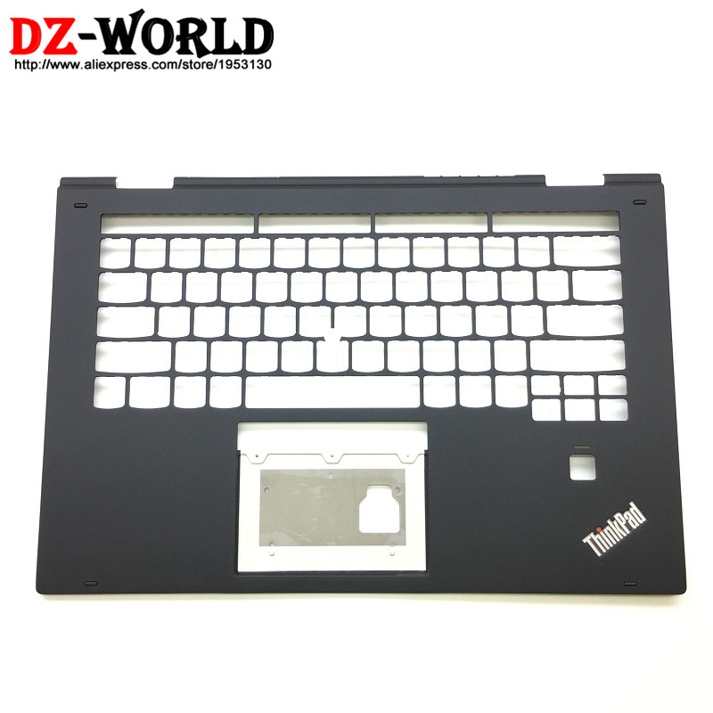 New/Orig for Lenovo ThinkPad X1 Yoga 2nd 20JD 20JE 20JF 20JG Keyboard Bezel Palmrest Cover w/o Touchpad with FPT Hole SM10M69724 laptop palmrest keyboard for lenovo for thinkpad s3 s431 s440 s431 us gr uk touchpad original mp 12n63 keyboard bezel cover