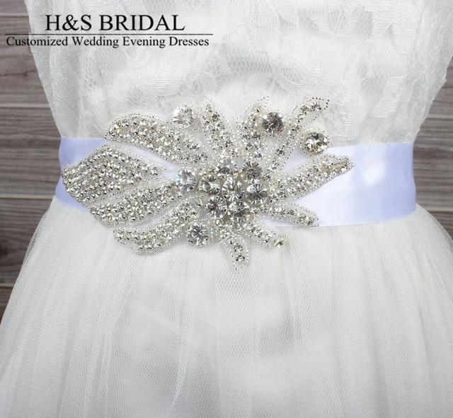 Charming Glass Crystal Bridal Belt Handmade Rhinestone Czech Stones Wedding Bridal Dress Belts Cummerbunds Sash Waistband
