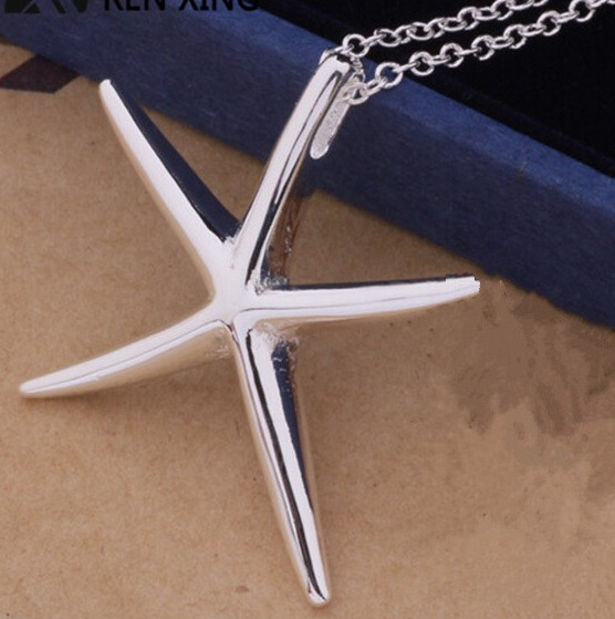 N337 Dainty Starfish Necklace Silver Starfish Necklace Gifts For Her
