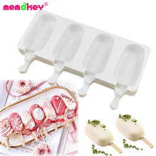 4 Cell Silicone Frozen Ice Cream Mold Juice Popsicle Maker Children Pop Mould Lolly Tray Silicone Molds Cake decorating Baking C c storybooks 4 special cake