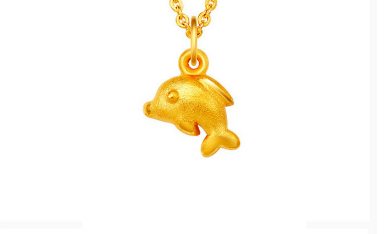 Pure 24K Solid 999 Yellow Gold Dolphin PendantPure 24K Solid 999 Yellow Gold Dolphin Pendant