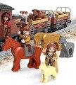 Kits de edificio modelo compatible con lego bloques de tren de transporte 3d aficiones modelo de construcción de juguetes educativos para niños