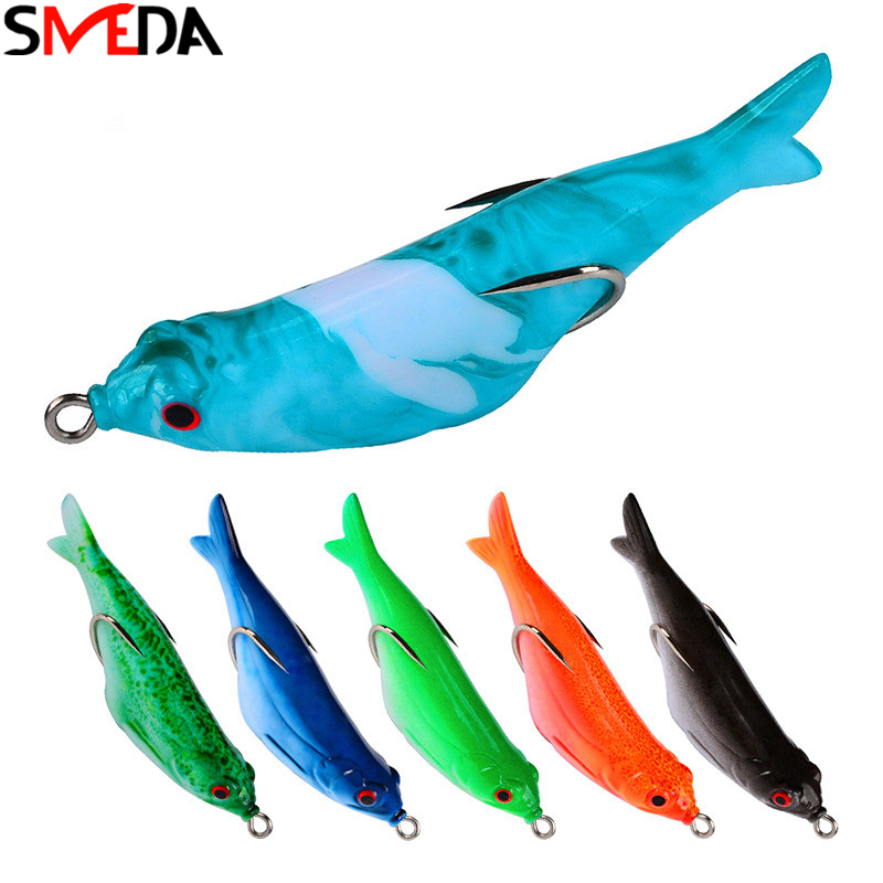 Soft Bait Wobblers Fishing Lure Isca Artificial Silicone Lure Feeder For Fishing Leurre Souple With Double Hooks
