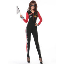 Umorden Miss Racer Racing Driver Costume Uniform for Adult Women Halloween Party Nightclub Wear