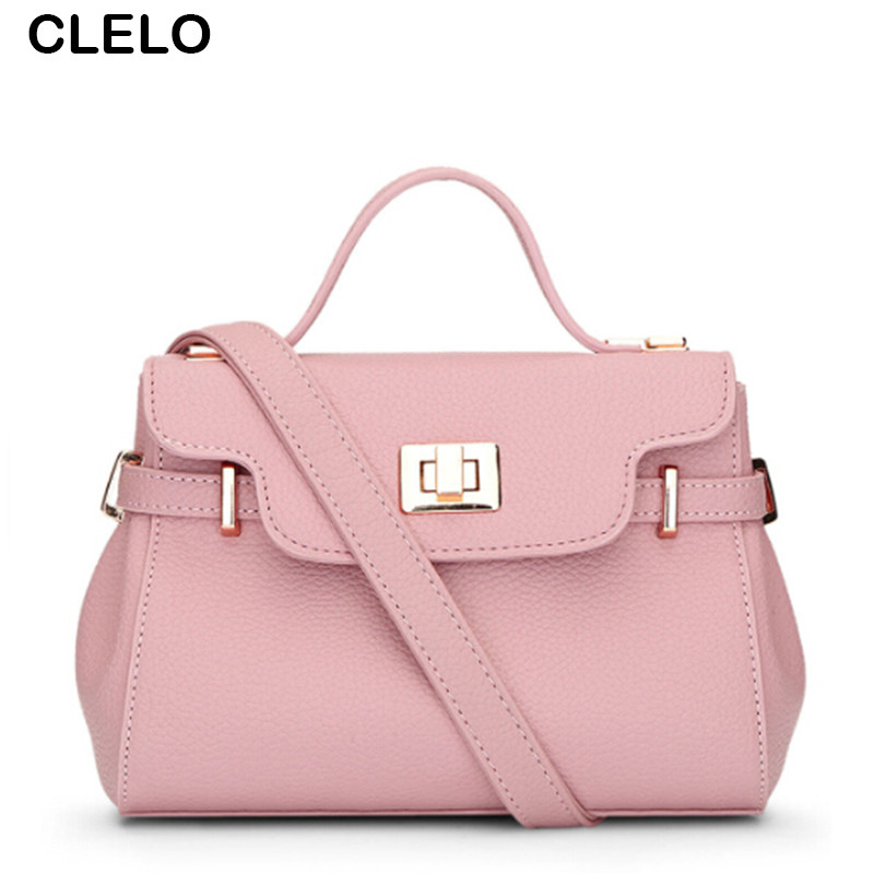 CLELO 2017 New Small Fashion Women Pu Leather Handbag Organizer Ladies Elegant Shoulder Bag Female Crossbody Lock Bags Bolsas 2017 new summer limited sailor moon chain shoulder bag ladies lock pu leather handbag women messenger crossbody small bag