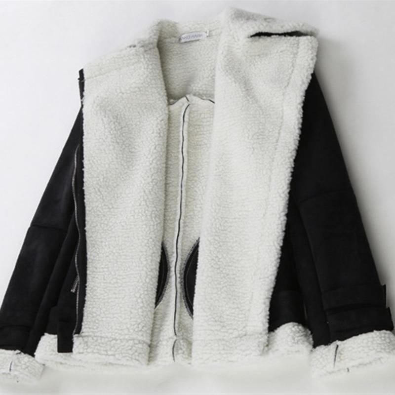 Qualité Veste Hiver kaki Fourrure Noir Manteaux Vêtements Daim Zipper Street De Irrégulière Femmes Faux Yz141 Wear Chaud Fack Peau Haute apBxwW8