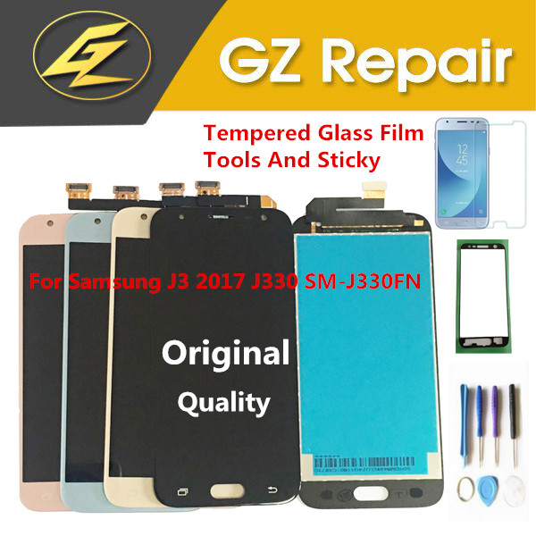 Original For <font><b>Samsung</b></font> Galaxy J3 2017 J330 SM-J330 <font><b>J330FN</b></font> SM-J330 SM-<font><b>J330FN</b></font> LCD Display+Touch Sensor Glass Digitizer With Kits image