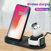 Qi Wireless-ladegerät Für iPhone XS Max XR X 8 Plus 3 In 1 Schnelle Lade Dock Für Apple uhr 2 3 4 3 drahtlose Ladegeräte Station