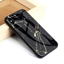 Tempered Glass Case For Iphone X XS Max Cover Marble Pattern Protector Coque XR Fundas Housing