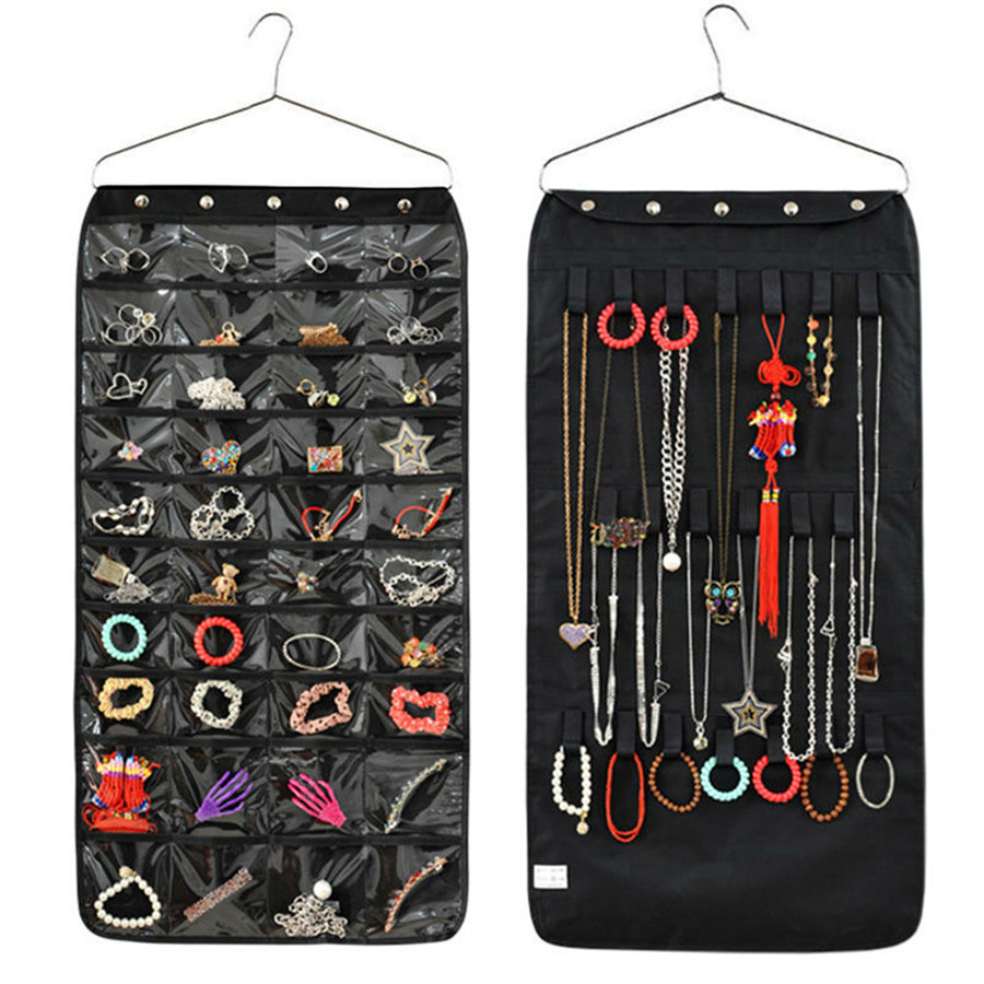 40 Pockets Cosmetic Sundries Hanging Storage Bag Home Decor Multifunction Bathroom Door Wall Jewellery Organiser Free Shipping