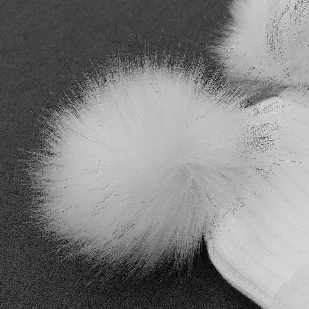 1 шт. Мода махрово Для женщин зима теплая Плетеный крючком шерсть вязаная шапка леди шапочки Берет лыж мяч Skullies Кепки мешковатые