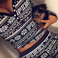 2Pcs Womens Hoodies slim Tops Pants Tracksuit Sweatshirt lomg sleeve Suit  Christmas Set