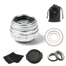 FUJIAN 35mm f1.6 C mount CCTV camera  Lens II for M4/3 / MFT Mount Camera & Adapter silver