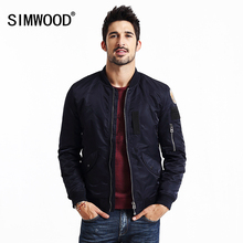 SIMWOOD марка 2016 новый бейсбол зимняя куртка «пилот» моды для мужчин хип-хоп пальто уличная одежда MF9501