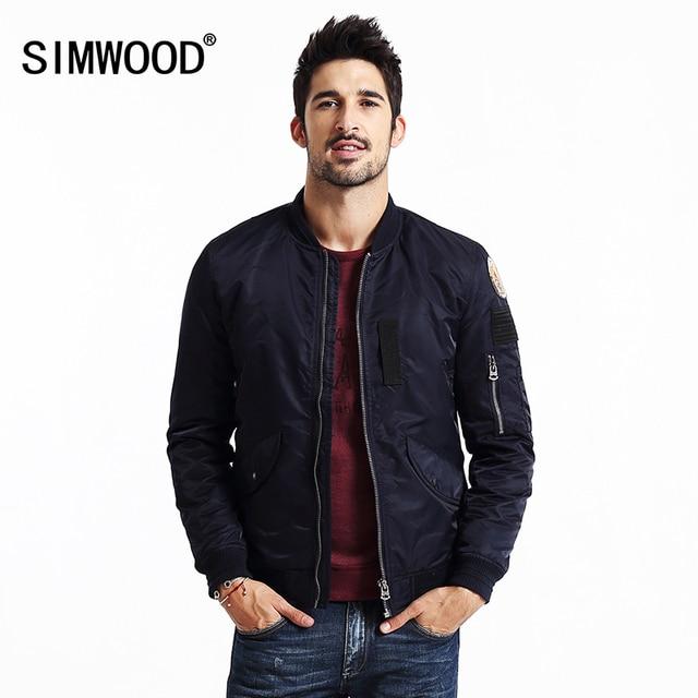 Simwood marca 2016 novo inverno bombardeiro de beisebol homens jaqueta moda casacos de hip hop roupas streetwear mf9501