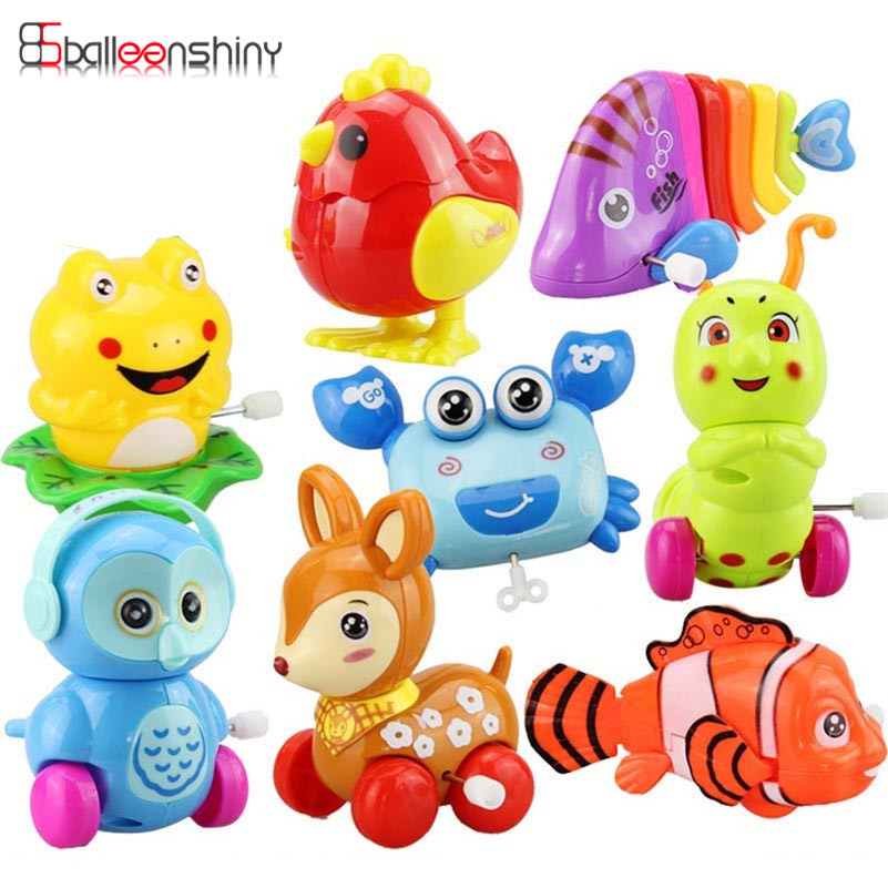 BalleenShiny Mini Baby Clockwork Spring Toys Kids Developmental Educational Colorful Wind-up Fun Intelligence Toys Random Color