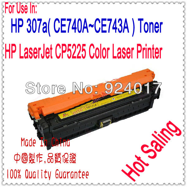 For HP Printer 307A CE710A CE740A CE741A CE742A CE743A Toner Cartridge,For HP CP 5225 5220 CE 740A 741A 742A 743A Toner Reset compatible laser printer reset toner cartridge chip for toshiba 200 with 100% warranty