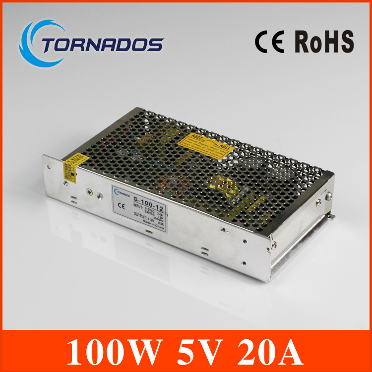 Free Shipping led driver 5v Output 5V 20A 100W Switching Power Supply Driver For LED Strip light Display AC100V-240V Input 90w led driver dc40v 2 7a high power led driver for flood light street light ip65 constant current drive power supply