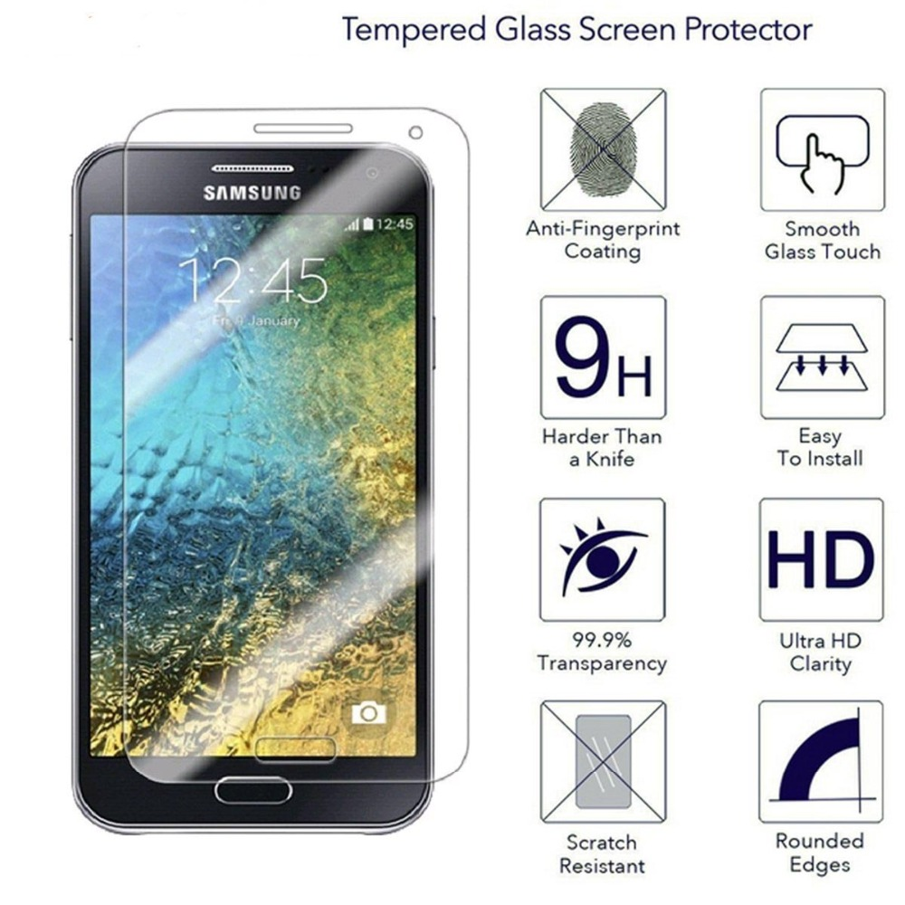 New 9H HD Tempered <font><b>Glasses</b></font> for <font><b>Samsung</b></font> <font><b>Galaxy</b></font> E5 Tempered <font><b>Glass</b></font> Screen Protector Ultra Clear Scratch Resistant image
