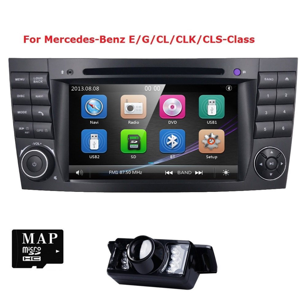 2din gps radio car dvd player for mercedes e g class w211. Black Bedroom Furniture Sets. Home Design Ideas
